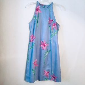 Lilly Pulitzer   Vintage Periwinkle Floral Dress 8